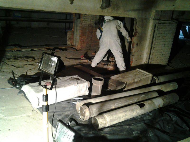 Galeria Demontaż rur azbestowo-cementowych Wrocław